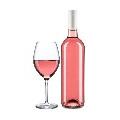 Fles Rosé wijn Mongolfier